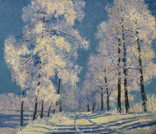 Зимняя аллея (холст/масло 30см x 35см 2012 г.)