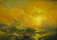 Работа ученицы: Копия картины Айвазовского