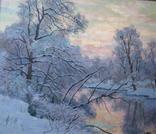Морозное утро (холст/масло 30см x 35см 2012 г.)
