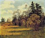 Картина пейзаж весна
