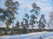 Зимний день (холст/масло 30см x 40см 2009 г.)